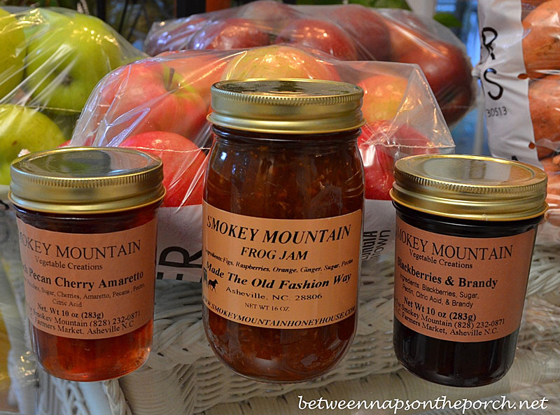 Frog Jam, Blackberries & Brandy, Peach Pecan Cherry Amaretto