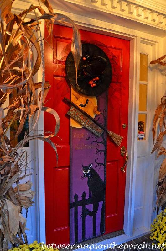 Front Door Decorated for Halloween 1a_wm