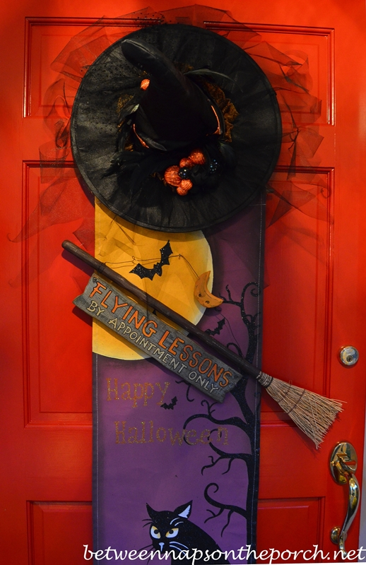 halloween witch door decorating ideas fall front door decorated for halloween 3awm the witch is in between naps on the porch