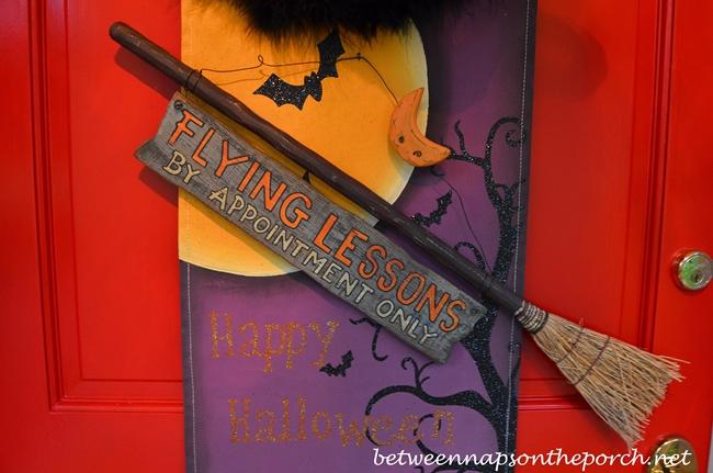 Front Door Decorated for Halloween