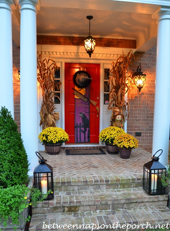 Halloween Porch with Lanterns