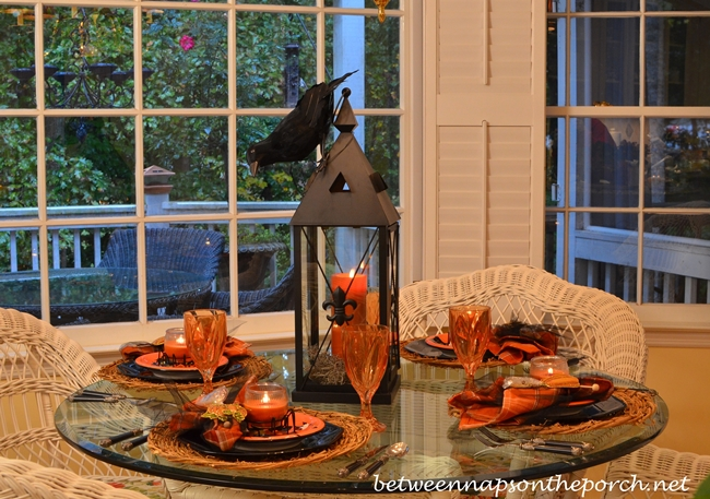 Halloween Tablescape with Candlelight Centerpiece 1