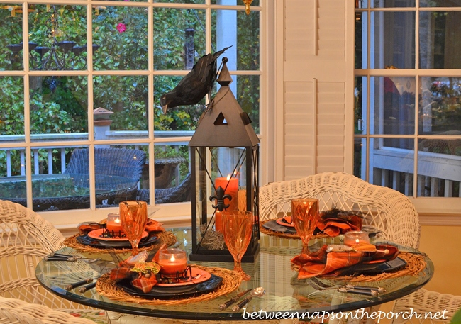 Halloween Tablescape with Candlelight Centerpiece 11