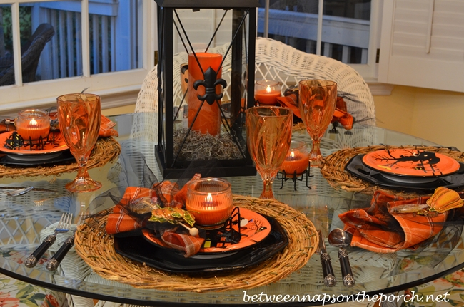 Halloween Tablescape with Candlelight Centerpiece 2