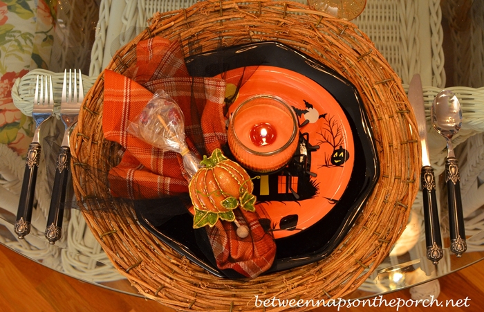 Halloween Tablescape with Halloween Plates_wm