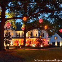 Beautiful Victorian Home Aglow for Halloween