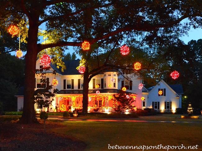 House Aglow on Halloween Night