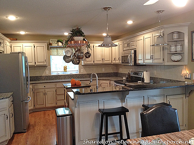 Kitchen Renovated with Painted Cabinets and Granite 1_wm10