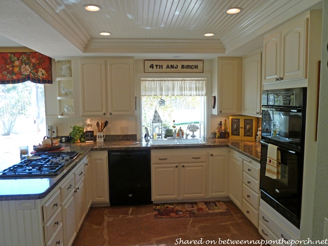 Kitchen Renovation with White Cabinets, Granite, Recessed Lighting 04