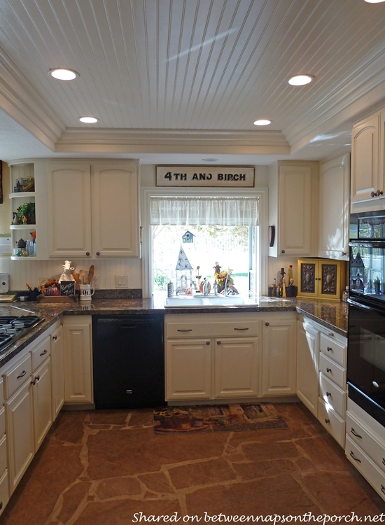 Kitchen Renovation with White Cabinets, Granite, Recessed Lighting 06