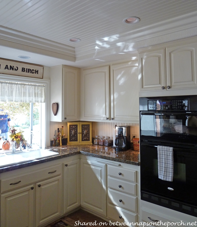 Kitchen Renovation with White Cabinets, Granite, Recessed Lighting 08