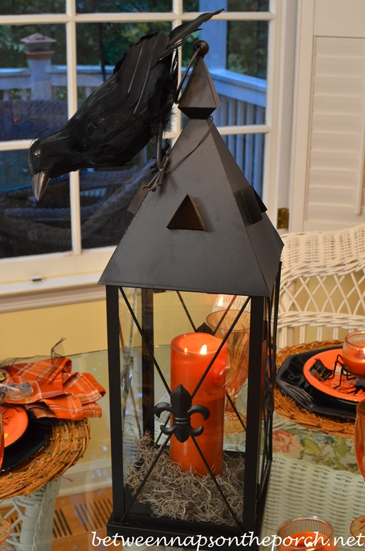 Lantern Centerpiece for a Halloween Table