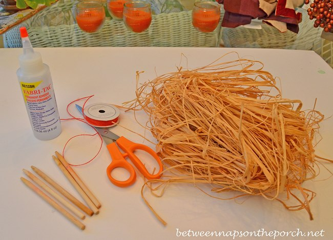 Make Broomstick Place Card Holders