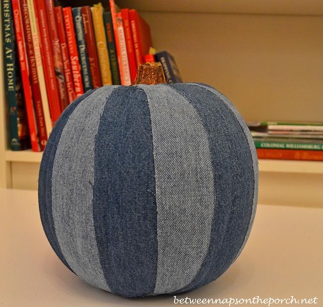 Make a Denim Pumpkin for Halloween
