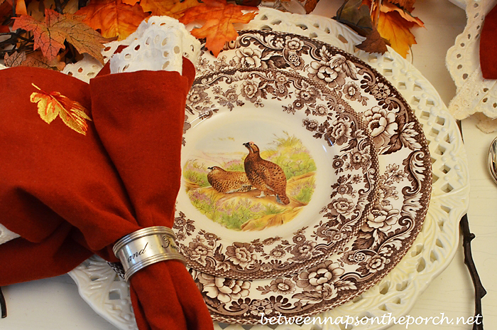Spode Woodland for an Autumn Table Setting