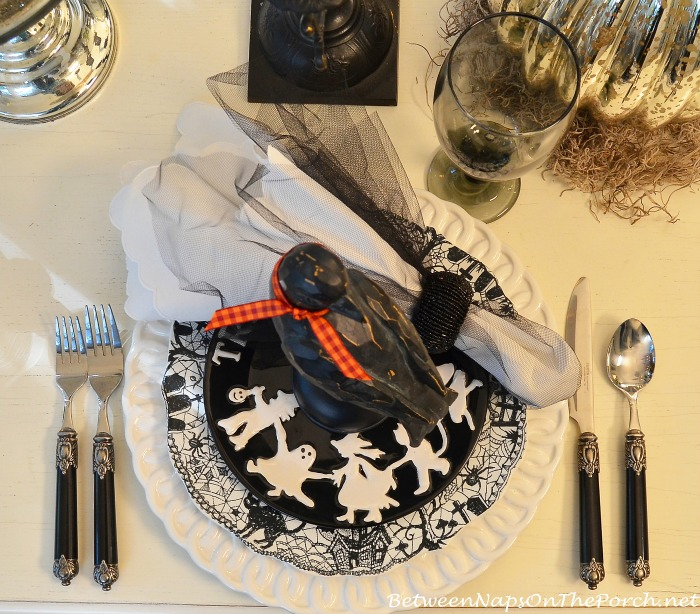 Trick or Treat Salad Plates for Halloween Table Setting