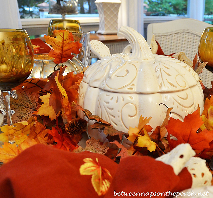 White Pumpkin Tureens for Dining