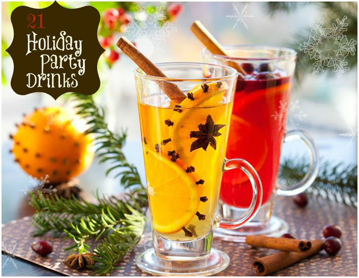 21 Holiday Party Drinks, Non-Alcoholic and With Alcohol