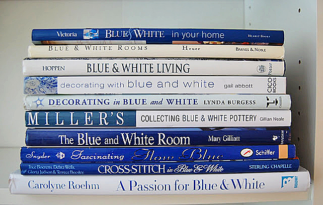 Books for Decorating in Blue and White