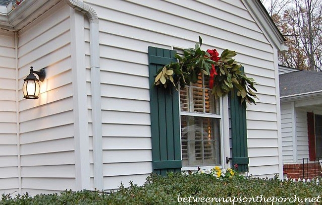 decorate for christmas with swags over windows_wm - Outdoor Window Christmas Decorations