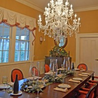 Beeswax Candle Covers and Satin-Wrapped Bulbs for Chandeliers