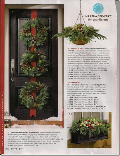 Front Door with Triple Wreaths for Christmas