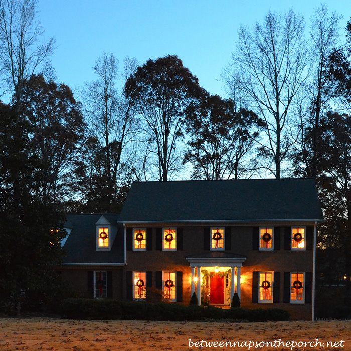 Hang Wreaths on Exterior Windows for Christmas