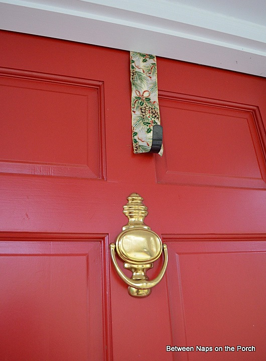 Hanging Triple Wreaths on Door