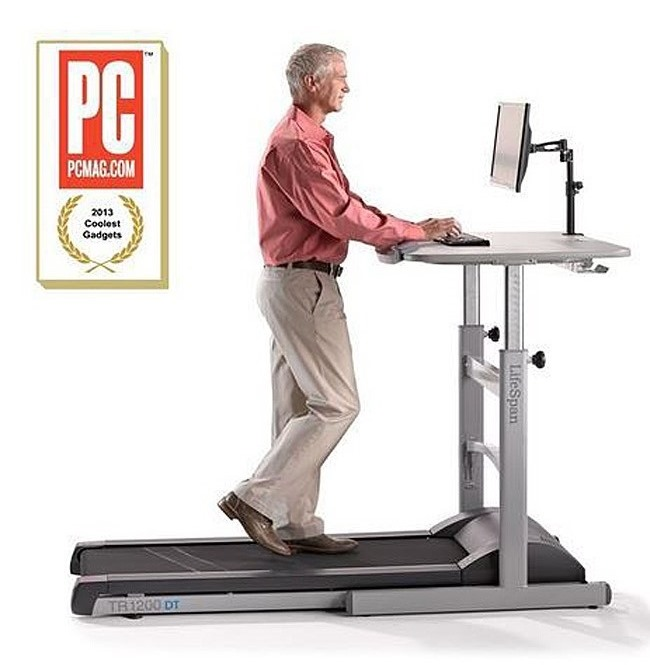 Treadmill Desk Funny: The Treadmill Desk: Burn Calories While Working And