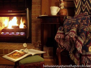 Hot Chocolate Served Fireside