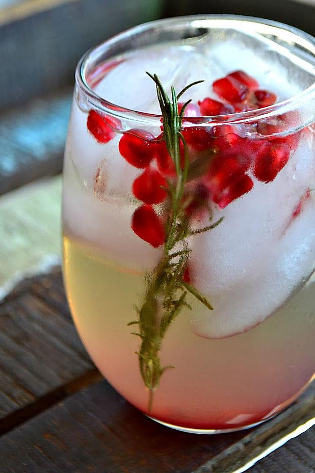 Pomegranate Rosemary White Sangria