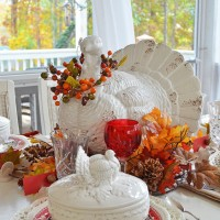 A Thanksgiving Fall Tablescape Out On The Porch