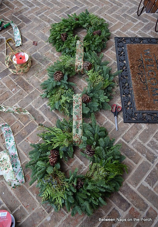 Triple Wreaths for the Christmas Door