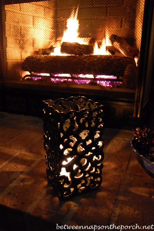 Warming up Candlelight and a Cozy Fire