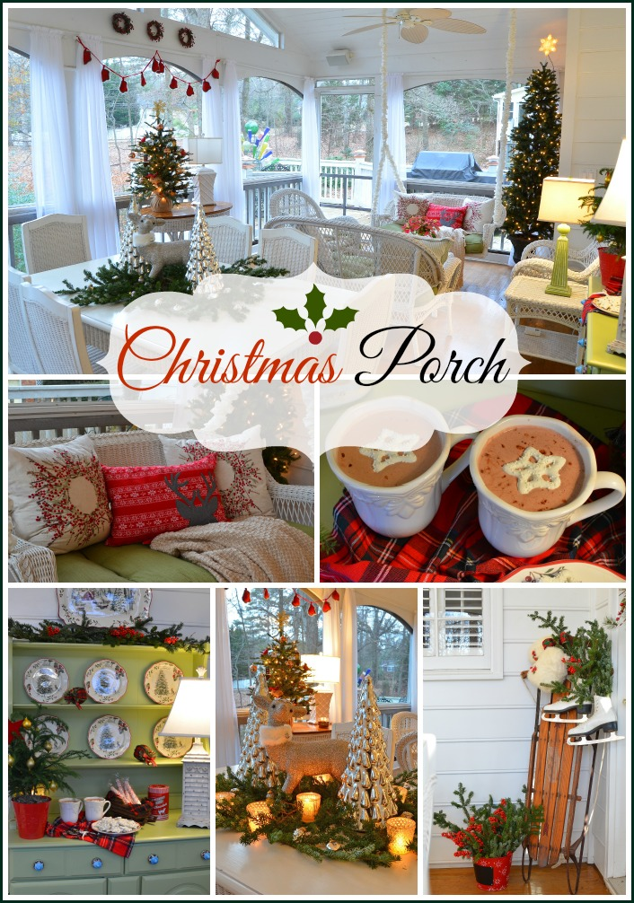 Screened In Porch Decorated For Christmas Between Naps On The Porch