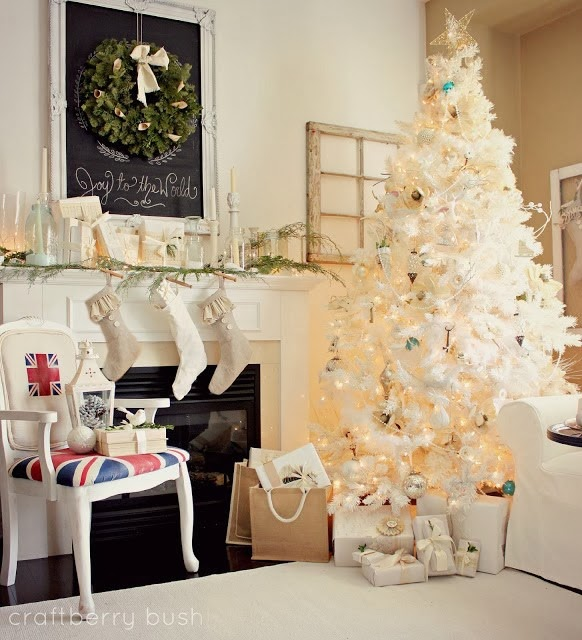 White Christmas Mantel Ideas: 10 Ways To Decorate A Mantel For Christmas