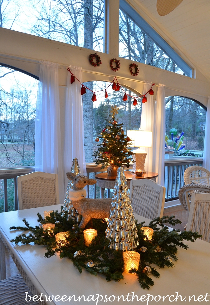Christmas Screen Porch