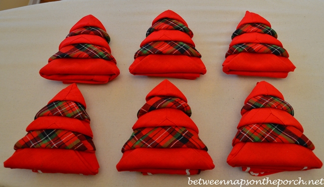 Napkin Folding Christmas.Christmas Tree Napkin Fold Tutorial Between Naps On The Porch