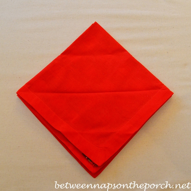 Christmas Tree Napkin Fold 05