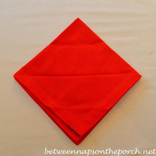 Christmas Tree Napkin Fold 05