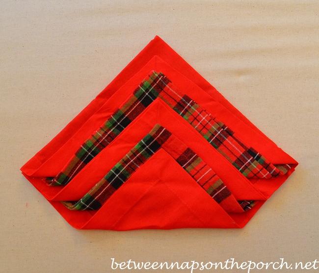 Christmas Tree Napkin Fold 10