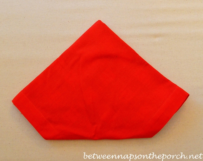 Christmas Tree Napkin Fold 11