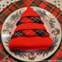 Christmas Tree Napkin Fold Tutorial