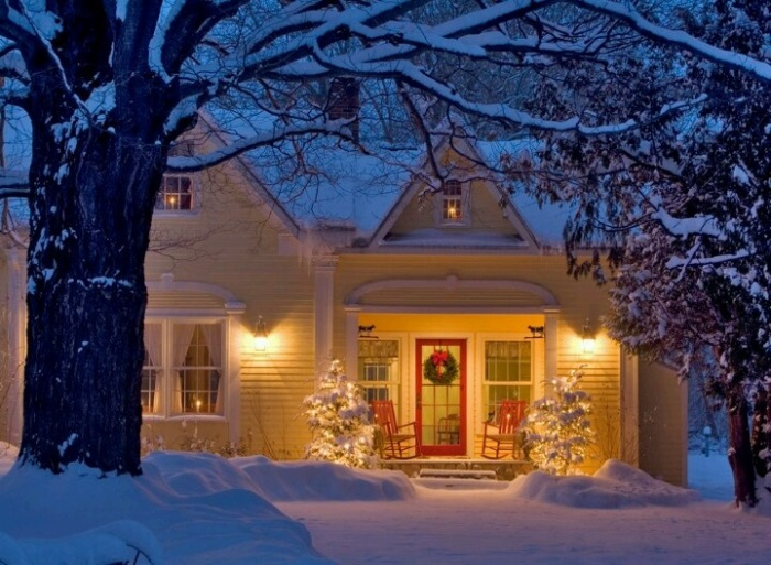 Cute House in Snow