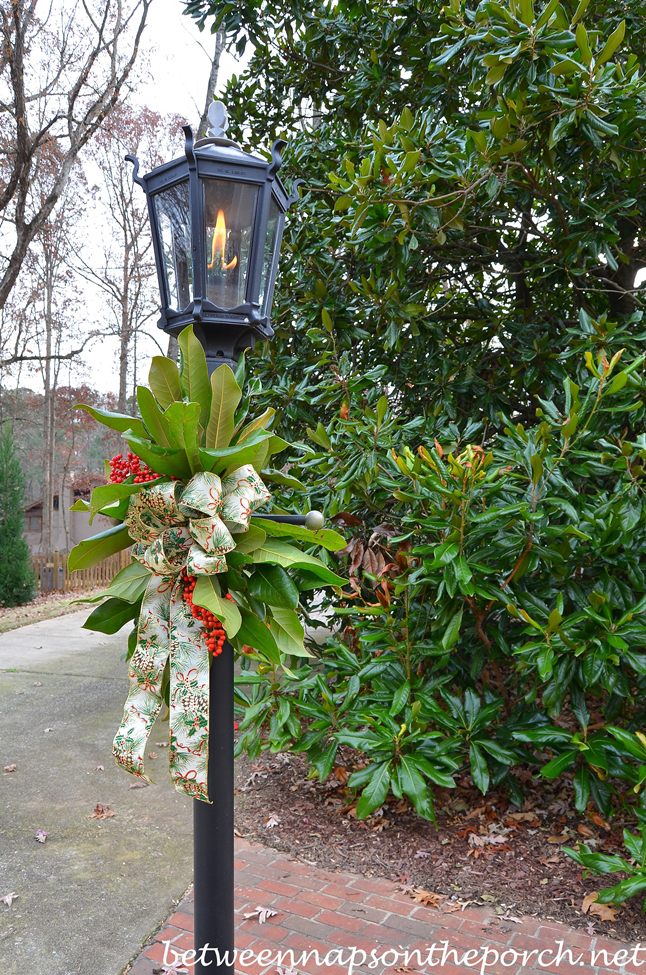 Decorate a Lantern for Christmas with Fresh Greenery ...