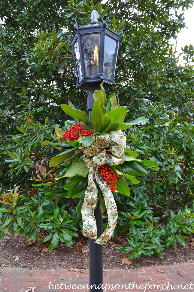 Lantern Decorated for Christmas