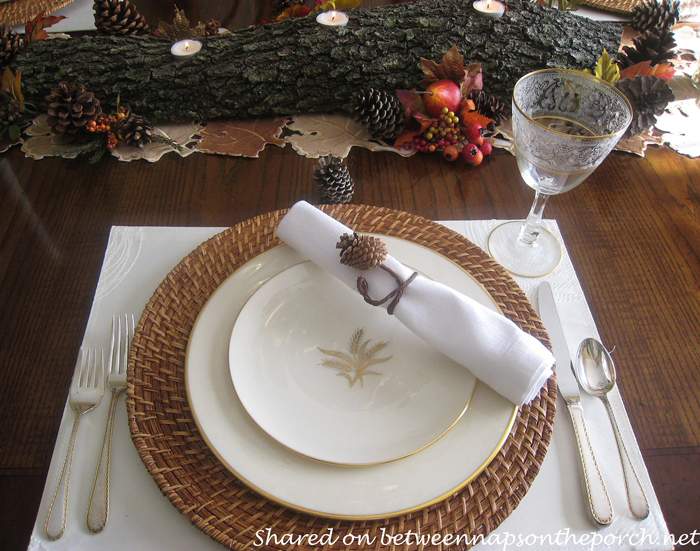 Make Napkin Rings from Pine Cones