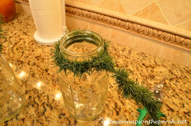 Make a Lantern for Christmas with Mason Jars