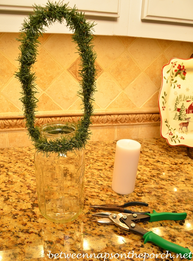 Make a Lantern for Christmas with Mason Jars