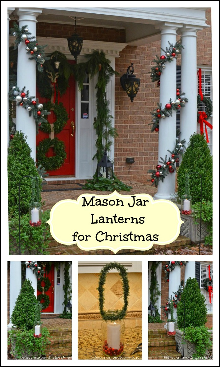 Mason Jar Lanterns for Christmas